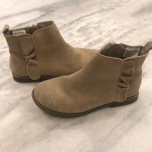 GAP Girls Suede Ruffle Boot, SZ 13